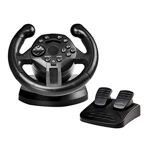 HPH Volante De Carreras para PS3 Volante del Juego Control Remoto De Joysticks De Vibración para PC Controlador De Ruedas para PC