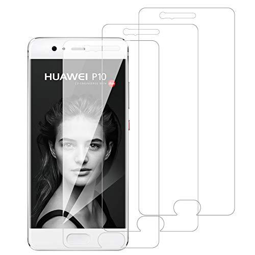 [3 Pack] Amonke Protector Pantalla para Huawei P10 Cristal Templado, Plana pero...