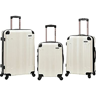 Rockland 3 Piece Sonic Abs Upright Set, White