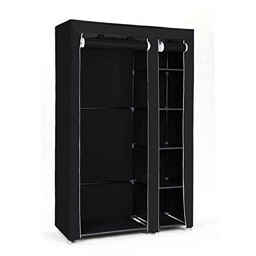 SONGMICS armario desmontable color negro de 175 x 110 x 45 cm