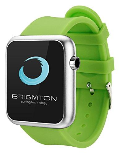 Brigmton BWATCH-BT3V 1.44' Plata Reloj Inteligente - Relojes Inteligentes (3,66 cm (1.44'), Pantalla táctil, 0,032 GB, 160 h, 66 g, Plata)