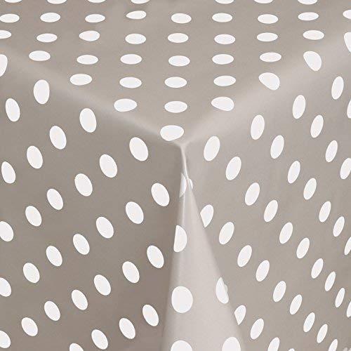 KEVKUS Nappe de Table en Toile Cirée Rouleau Produits de Rouleaux Points Gris Points Polka à Pois 01150-07 - 01150-07, 15 m x 140 cm