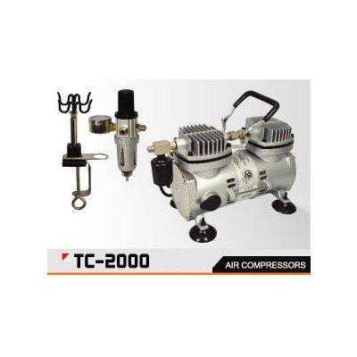 Airbrush Kompressor Set TC-2000 Sparmax Profi Doppelkolben