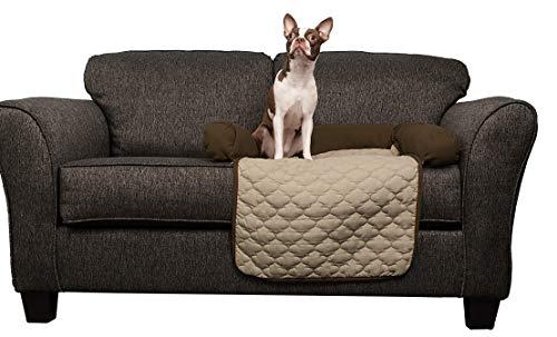 Quick Fit Wubba Reversible Pet Bed Couch Cover for Dogs, 21x34, Chocolate-Natural