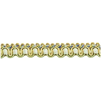 Sold by The Yard Navy Blue 1//2 inch Imperial IIGimp Braid Style# 0050IG Color: Navy Gold D/ÉCOPRO Gold 1152