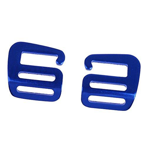 Non-brand 1 Paar G Haken Outdoor Gurtbandschnalle Für Rucksackgurt 25mm - Blau