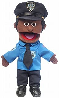 14 Policeman Black Male Hand Puppet