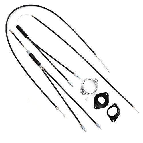 ULTECHNOVO - Kit de línea de cables de freno para bicicleta - Gyro cables de freno delantero y trasero para BMX