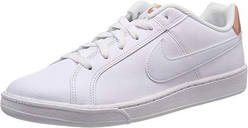Nike Women's Court Royale Shoe, Zapatillas de Gimnasia Mujer, Multicolor (White/White/Rose Gold 116), 42 EU