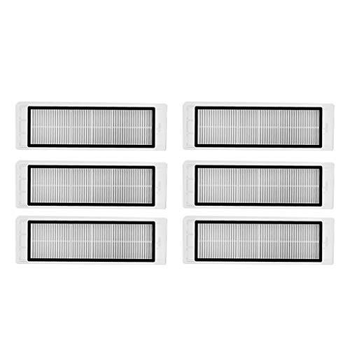 WARMWORD Hi-Tech-Global Version Mejorada Impermeable Lavable HEPA Filtro para barredora Robot Xiaomi 1S y RoboRock T65, Robot de Barrido Accesorios, Piezas de Recambio,6pcs