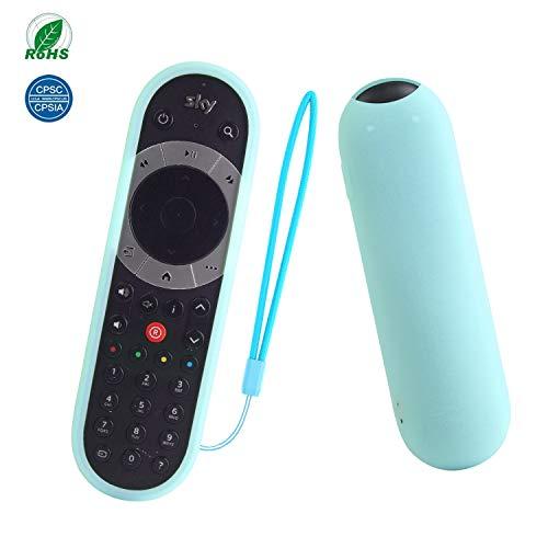 SIKAI Compatibile con Sky Q touch Edition Remote Control Custodia Protettiva per Telecomando TV SKY Q Custodia Cover in Siliconica Morbida Protettivo Caso Antipolvere (Luminoso Blu)