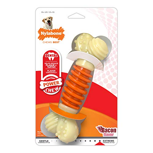 Nylabone Dental Chew Bacon flavored Pro Action Bone Dog Chew Toy , Large