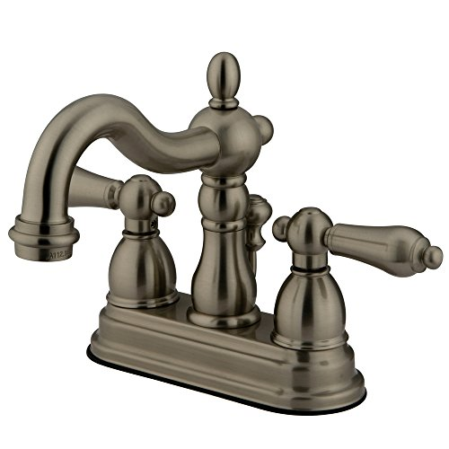 Elements of Design New Orleans EB1608AL Centerset Lavatory Faucet with Retail Pop-Up, 4-Inch, Brushed Nickel