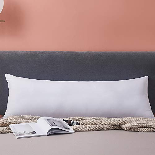 Yalamila Full Body Pillow for Adults-100% Polyester Body Pilllow Insert for Side Sleeper-Breathable White Long Pillow for Sleeping-20×54 inch