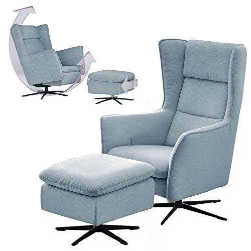 plaats te bestellen. Exclusieve draaibare oor-relax-tv-schommel-stille stoel met premium stof Scandinavisch mit Hocker Individuele overtrek, excl. Stof/leer.