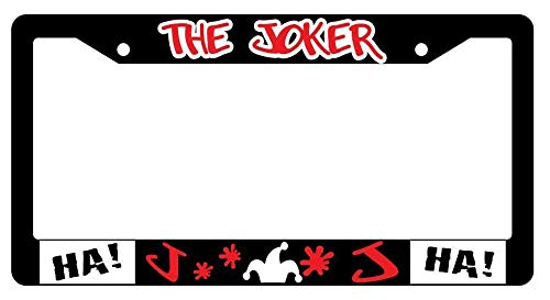 License Plate Frames, The Joker Black Metal License Plate Frame Auto Accessory DC Applicable to Standard car Unisex-Adult Car Licenses Plate Covers Holders Frames for Plates 15x30cm