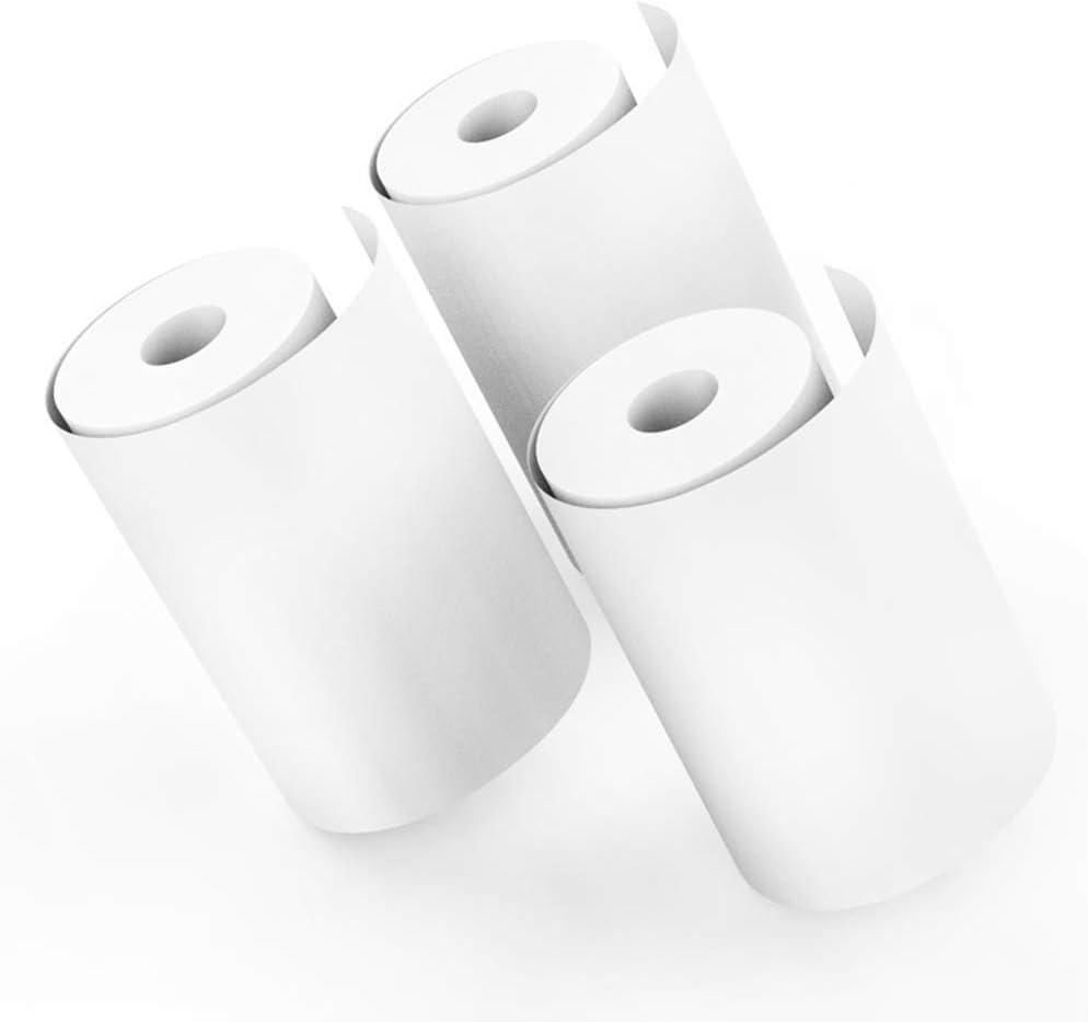 Wei/ß POHOVE 10rolls Kinder Kamera Drucken Papier Transferpapier Wei/ß Instant Aufdruck Pulp Thermal Studenten Geschenk Papier Free Size