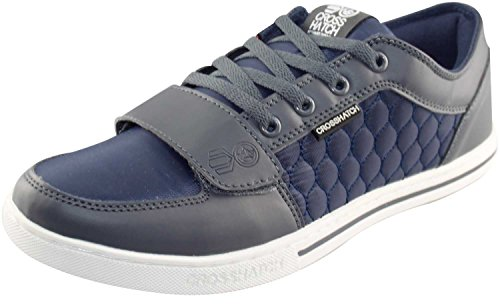 CrossHatch Mens Quilted Sneakers Dress Blue and Eifel Tower UK 8