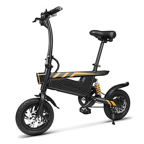 GJJSZ Mini vélo électrique Pliant 250 W Moteur léger en Alliage d'aluminium avec lumière...