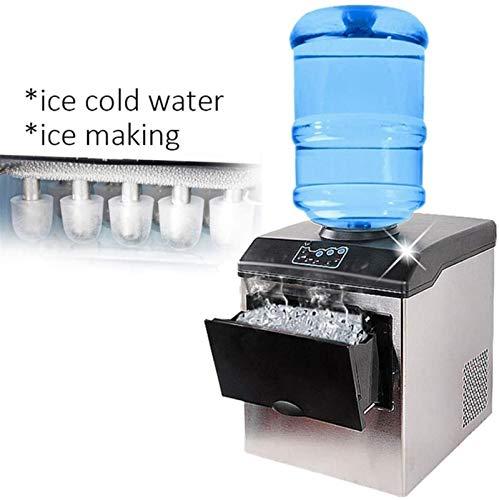 DALIBAI Elektrische Eismaschine für gewerbliche Heimgebrauch, Arbeitsplatte, automatische Kugel-Eismaschine, Eiswürfelherstellung, 220 V, 25 kg/24 h Bars, Café