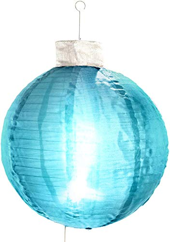 Elf Logic - 21' Large Outdoor Christmas Ornament That Lights UP. Collapsible Light-Up Ball - Perfect Indoor or Outdoor Holiday Decoration. Beautiful Outdoor Christmas Tree Ornaments (Blue)