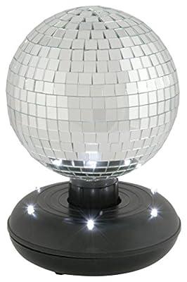 qtx RMB-150 15 cm Rotating Mirror Ball with LED Base
