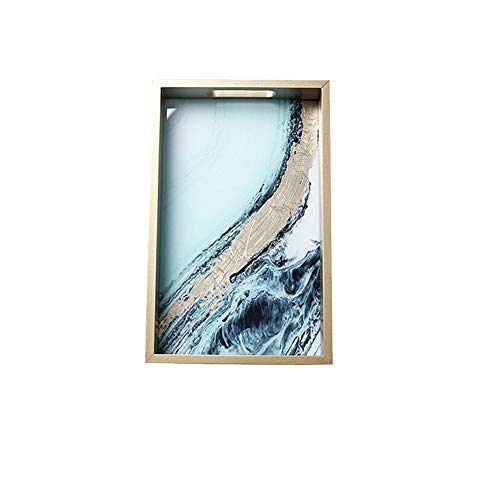NAFE Houten dienblad-parfum dienblad, sieradenbak, kluisje, dressoir badkamer dressoir kleine tafel
