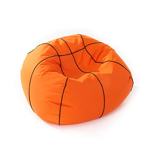 Lumaland Luxury Basketball Sitzsack hochwertiges Sitzkissen aus der Comfortline klein