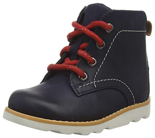 Clarks Jungen Crown Hike T Klassische Stiefel, Blau (Navy Leather Navy Leather), 22 EU