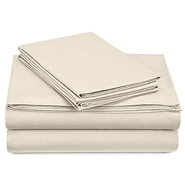 Pinzon 300-Thread-Count Percale Sheet Set - Queen, Ivory