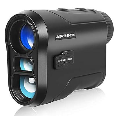 AIRSSON Golf Rangefinder Laser: 650 Yards Range Finder with Slope, 6X Magnification Rechargeable Pinseeker Distance Rangefinder for Hunting & Golfing