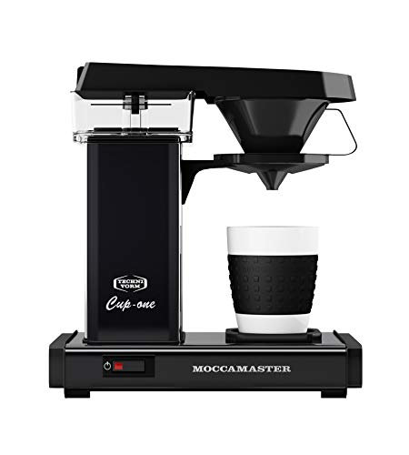 Moccamaster Filter Kaffeemaschine Cup-one, 0.3 Liter, 1090 W, Matt-Black