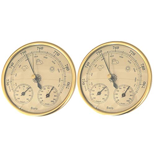 Fenteer Vintage 3 in 1 Barometro Termometro Igrometro Barometro Placca Orologio da Interno Esterno