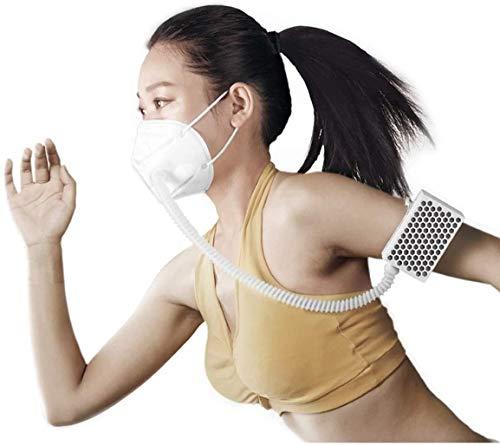 AirPro Face Shield - Purificador de aire eléctrico recargable con filtro HAPE, 99,9 % de eficiencia de filtración, 3 velocidades de ventilador
