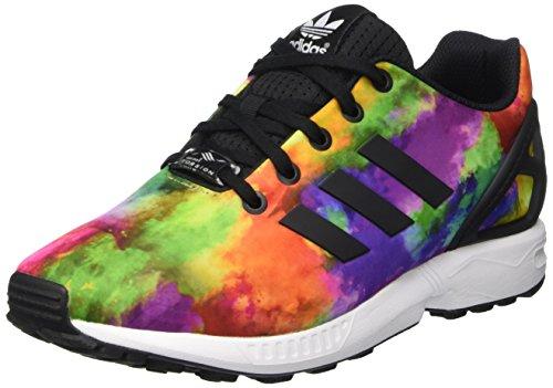 adidas Herren Zx Flux K Schuhe, Multicolor-Mehrfarbig (Cblack/Cblack/Ftwwht), 36 EU