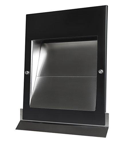 Edelstahl Überdruck Abluftgitter LG Sigma-S 150 Schwarz Pulverbeschichtet DN 150 mit Schwarzer UV-Beständiger Blende
