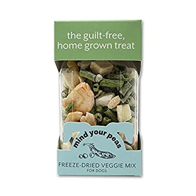 Petknowledgy Mind Your Peas Natural Dog Treats - Freeze Dried Fruit & Veggie Mix - Grain Free Mix of Sweet Potatoes, Apples, Cranberries, Green Beans, Peas - Human Grade & Healthy