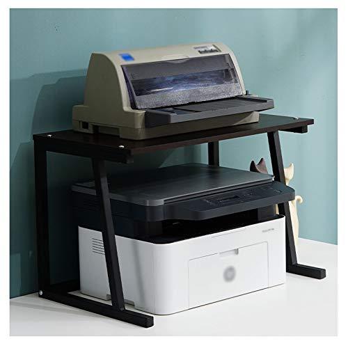 Soportes para impresoras Estante de impresora de impresora de escritorio, estante de impresora de escritorio de 2 niveles, utilizado para oficina y banques de fax para el hogar, escáneres de almacenam