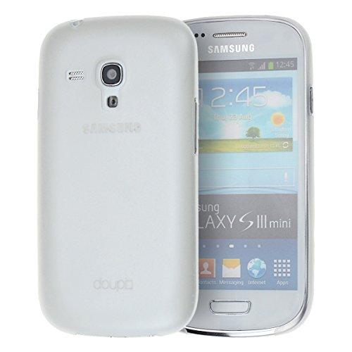 doupi UltraSlim Custodia per Samsung Galaxy S3 Mini, Satinato fine Piuma Facile Mat Semi Trasparente Cover, Bianco