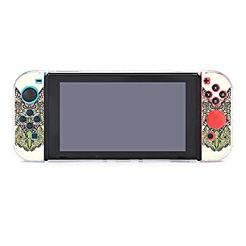 Protective Case Cover for Nintendo Switch Zentangle Stylized Eagle Owl Colorful Ethnic African Indian Totem Tribal Dockable Case Compatible with Nintendo Switch Console and Joy-Con Controller