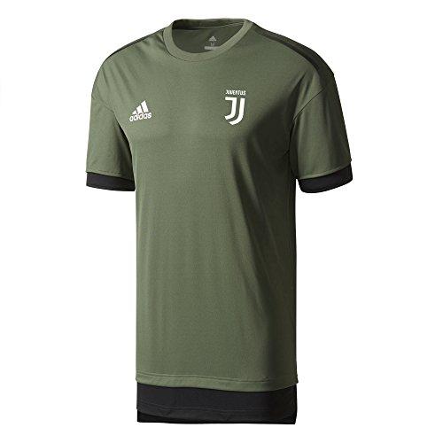 adidas Juve EU TR JSY Camiseta Entrenamiento Juventus 2017-2018, Hombre, Verde (verbas/Negro), XL