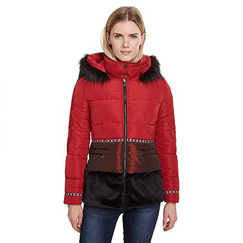 Doudoune courte Femme DESIGUAL padded sakari 19wwew02 36 (xs) rouge