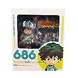 My Hero AcademiaQ Version Figura De Acción Que Cambia De Cara Midoriya Izuku 686 Figuras De Anime 10Cm, PVC Nendoroid Vinyl Collectible Model Toy Gift