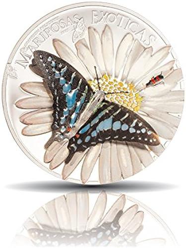 Der 3D-Schmetterling   Silbermünze mit Farbauflage   uatorial Guinea   000 Francs   aphium policenes   lierte Platte   3D-Technik   flage nur 2.500 Exemplare