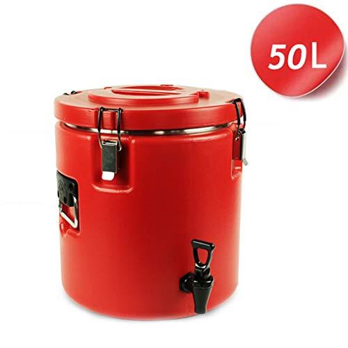 HuLiTea Glühweinkocher Verpflegungs-Urne-Edelstahl-Isolierfaß-Milch-Tee-Fass-Hitze-Bewahrung und kalte Bewahrung der großen Kapazität (Size : 50L)