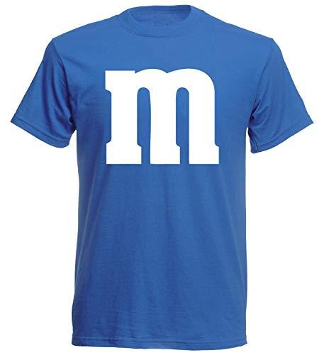 aprom T-Shirt Karneval M M Kostüm Gruppenkostüm Fasching JGA Party MM (L, Blau)
