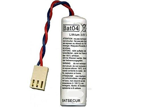 1 batteria Batli04 BAT04 pila litio connettore 3,6V - 2,7 Ah allarmi DAITEM LOGISTY