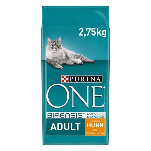 PURINA ONE BIFENSIS Adult Katzenfutter trocken, reich anHuhn, 4er Pack (4 x 2,75kg)