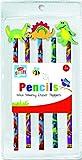 Lápices de dinosaurio para niños con gomas de borrar Toppers inmóvil escuela de goma fiesta bolsa de relleno