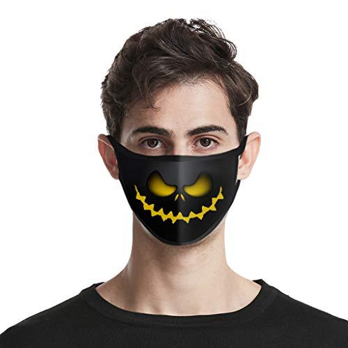 ROVNKD 4/5 piezas de protección facial bandanas Adult Protactive lavable Impresión Halloween reutilizable resistente al polvo